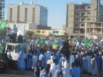 "25 Jan 2012 ISERI Students ""Day of Anger"" protest in Nouakchott"