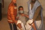 26 Jan 2012 ISERI student Ibrahim injured in the leg