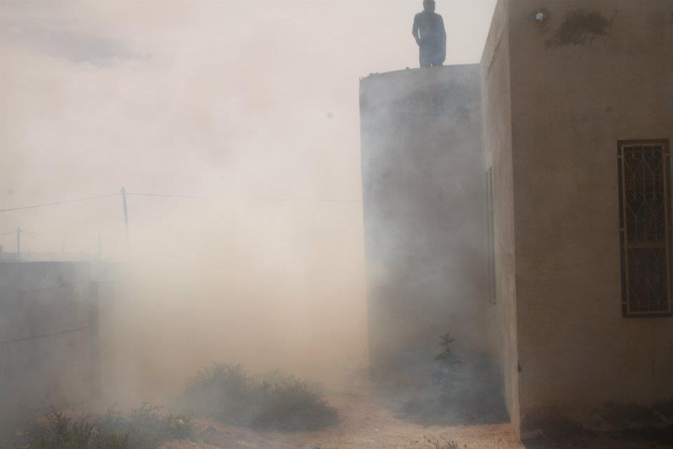 26 Jan 2012 ISERI students bombarded with tear gas by police