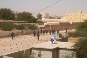26 Jan 2012 - ISERI students clashed with police in Nouakchott