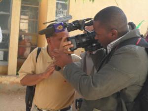 ISERI Protests 12 Jan 2012 AlJAzeera cameraman hassled