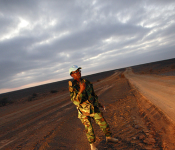 Peacekeeper stationed with MINURSO in Western Sahara