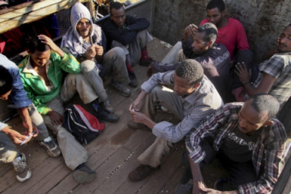 Some of the seventy survivors. Picture: AP