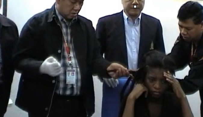 """Nolubabalo Nobanda said: """"I am not a drug trafficker but a victim of the human trafficking business"""". She was caught with 1.5kg of cocaine hidden in her hair in Singapore."""