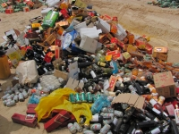 large quantities of seized alcohol and drugs destroyed