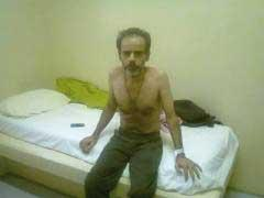 Sayed Farzin Amirkalali after three weeks on hunger strike