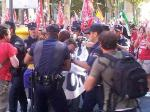 Madrid arrested for carrying a banner
