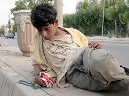 Yoing drug addict in Iran