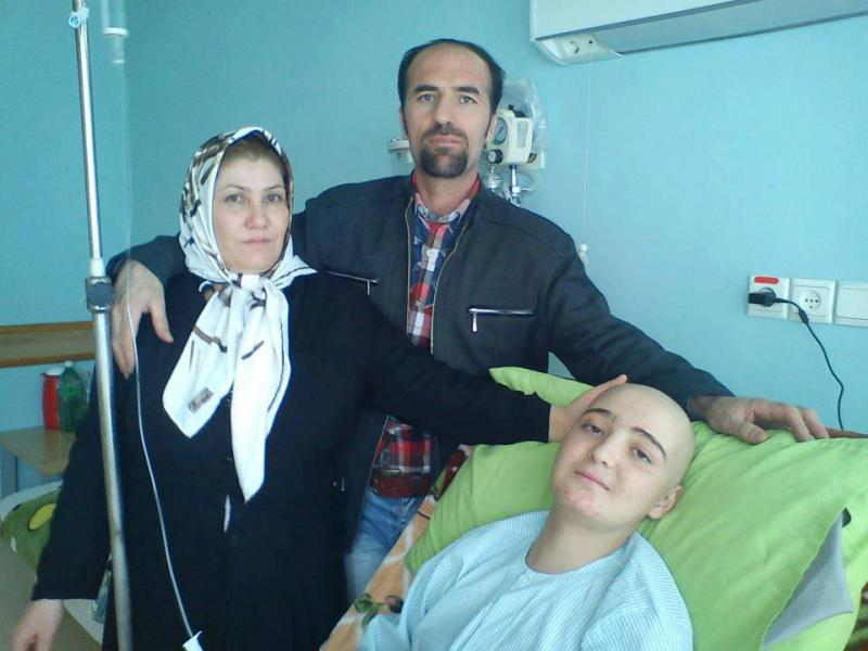 Behnam with wife and son Nima Ebrahimzadeh