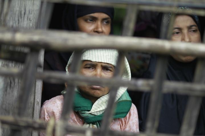 Rohingya Muslim women in Sittwe, Myanmar. Photo: Reuters